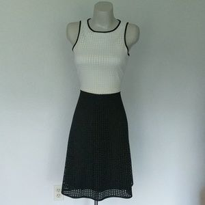 Two tone, Lazer cut scuba dress